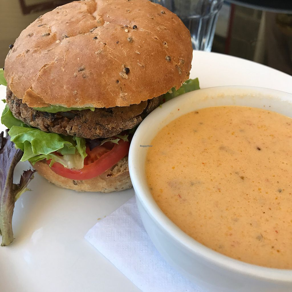 "Photo of Kameleon Food and Drink  by <a href=""/members/profile/RachelleGrant"">RachelleGrant</a> <br/>Vegan sun burger  <br/> June 26, 2017  - <a href='/contact/abuse/image/20975/273818'>Report</a>"