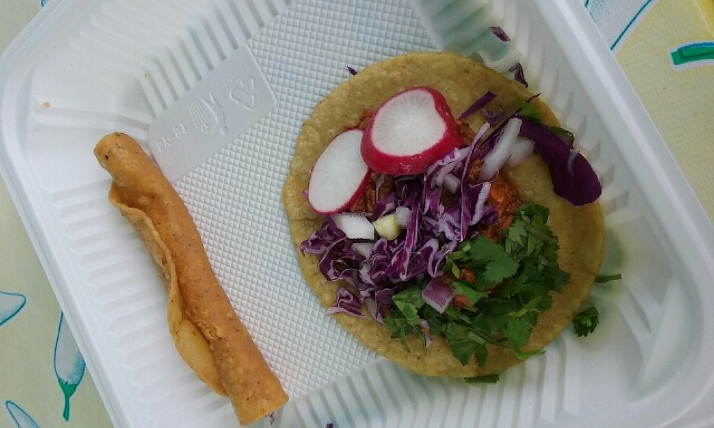 "Photo of Flacos  by <a href=""/members/profile/alexandra_vegan"">alexandra_vegan</a> <br/>taco and taquito filled with tofu <br/> April 19, 2016  - <a href='/contact/abuse/image/20980/145307'>Report</a>"