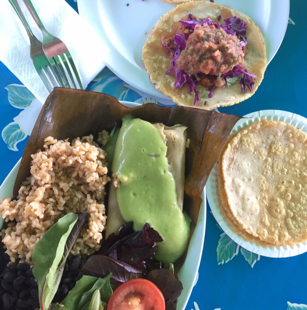 "Photo of Flacos  by <a href=""/members/profile/lolacooks"">lolacooks</a> <br/>taco and tamal plate <br/> August 13, 2016  - <a href='/contact/abuse/image/20980/168026'>Report</a>"