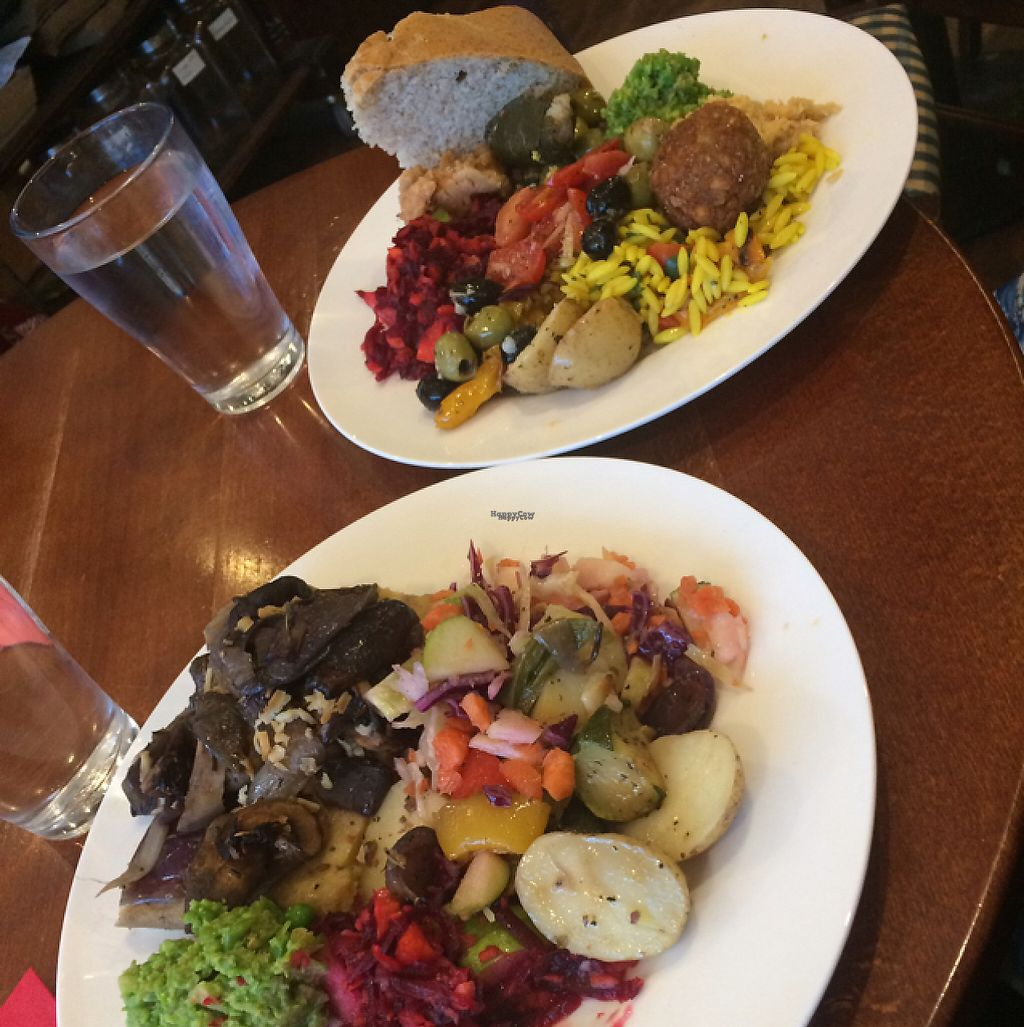 """Photo of Kyffin Cafe Deli  by <a href=""""/members/profile/LittleAliceFell"""">LittleAliceFell</a> <br/>GF Polentia Cake; Vegan Mezze <br/> December 10, 2016  - <a href='/contact/abuse/image/21015/198900'>Report</a>"""