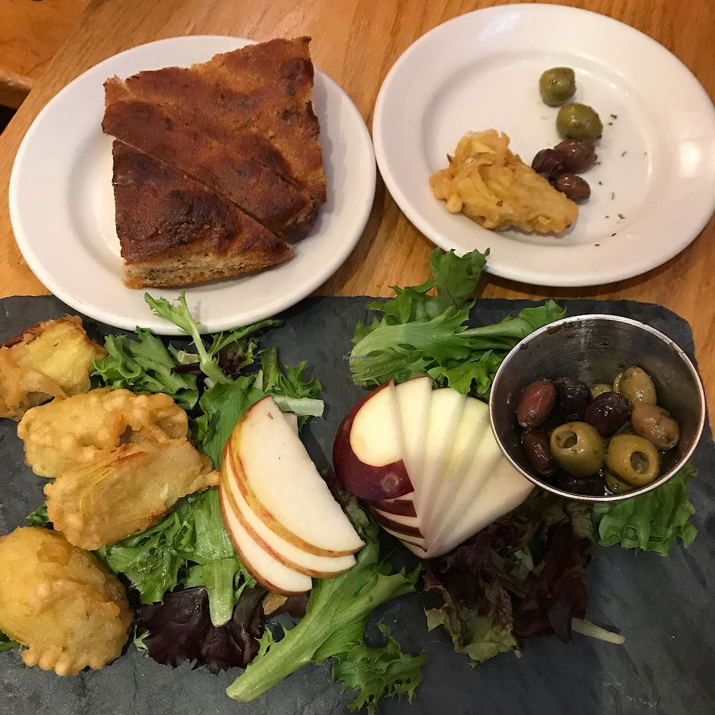 """Photo of Paul and Elizabeth's  by <a href=""""/members/profile/Sarah%20P"""">Sarah P</a> <br/>Antipasto app made vegan  <br/> April 29, 2018  - <a href='/contact/abuse/image/2101/392513'>Report</a>"""