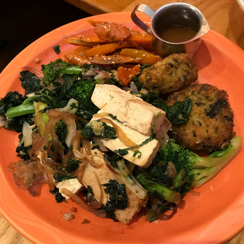 """Photo of Paul and Elizabeth's  by <a href=""""/members/profile/Sarah%20P"""">Sarah P</a> <br/>Vegetarian platter with rice croquettes- not vegan <br/> April 29, 2018  - <a href='/contact/abuse/image/2101/392515'>Report</a>"""