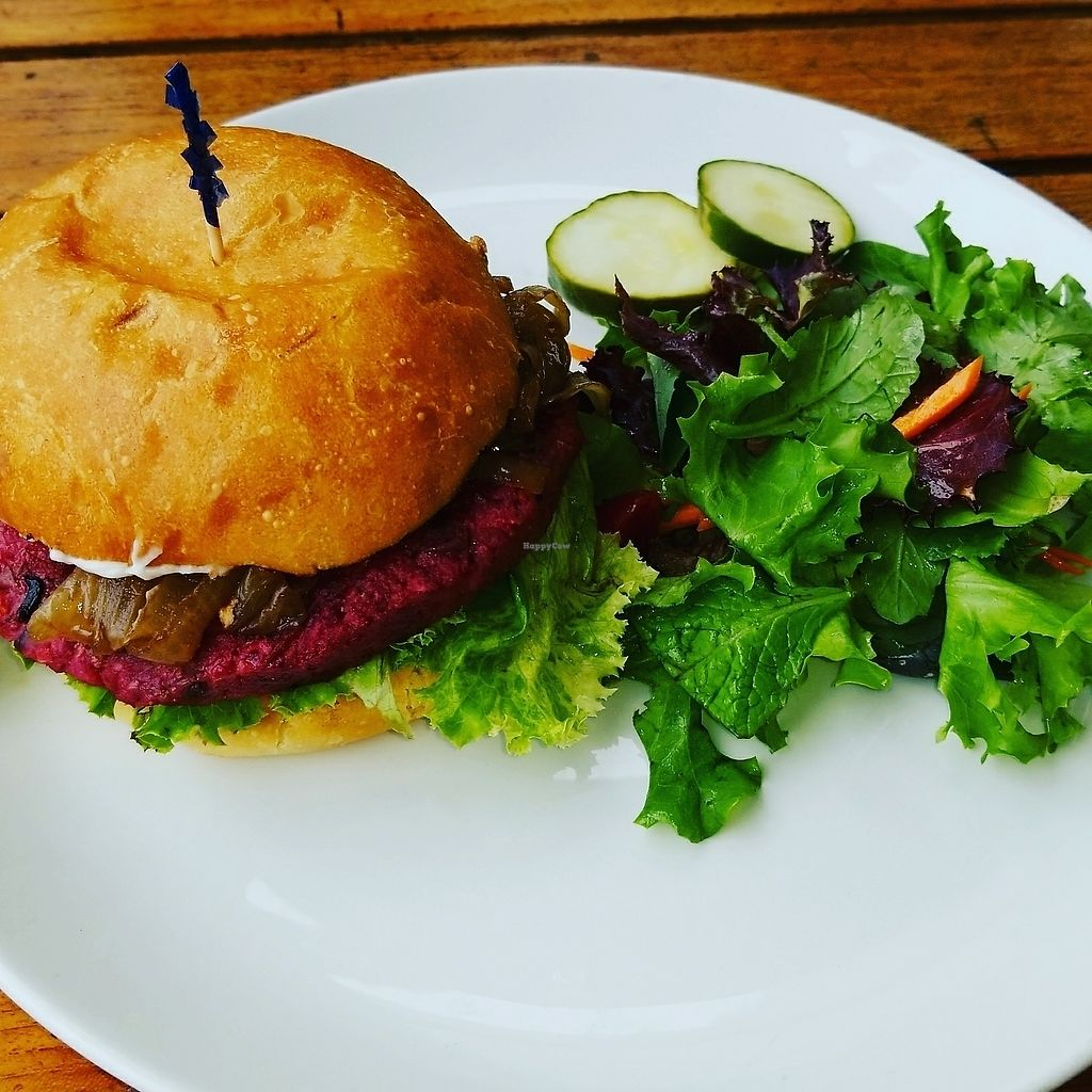 """Photo of The Plant Cafe Organic - Downtown  by <a href=""""/members/profile/FarinMontanez"""">FarinMontanez</a> <br/>plant burger  <br/> July 29, 2017  - <a href='/contact/abuse/image/21046/286455'>Report</a>"""