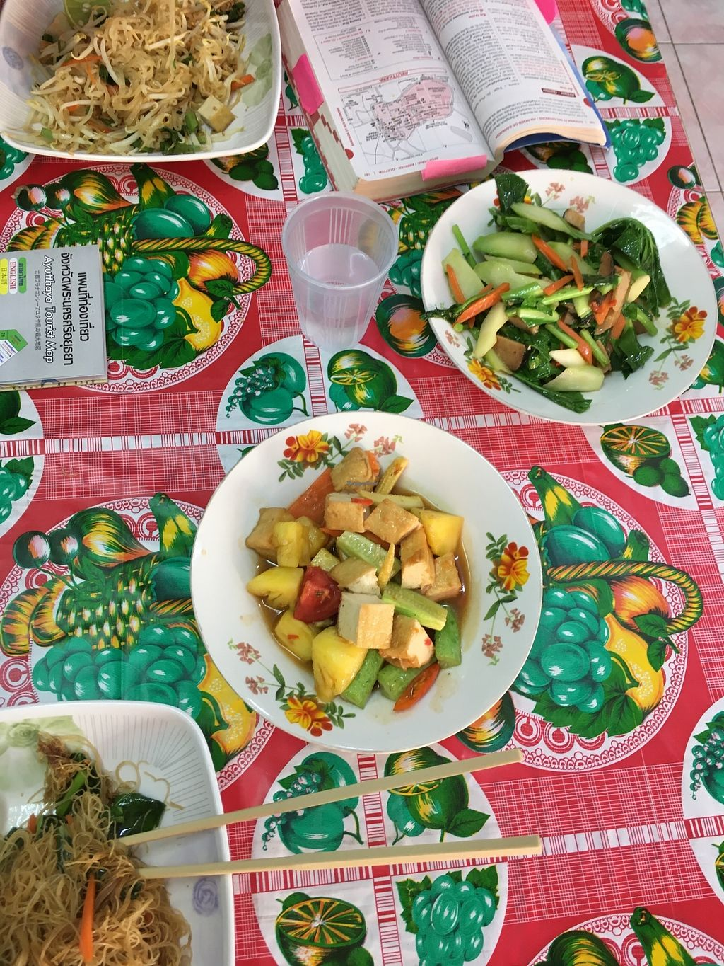"""Photo of Samrup Jay  by <a href=""""/members/profile/_zelisa"""">_zelisa</a> <br/>Stir fried vegetables and sweet/sour tofu with vegetables and pineapple  <br/> November 26, 2017  - <a href='/contact/abuse/image/21054/329401'>Report</a>"""