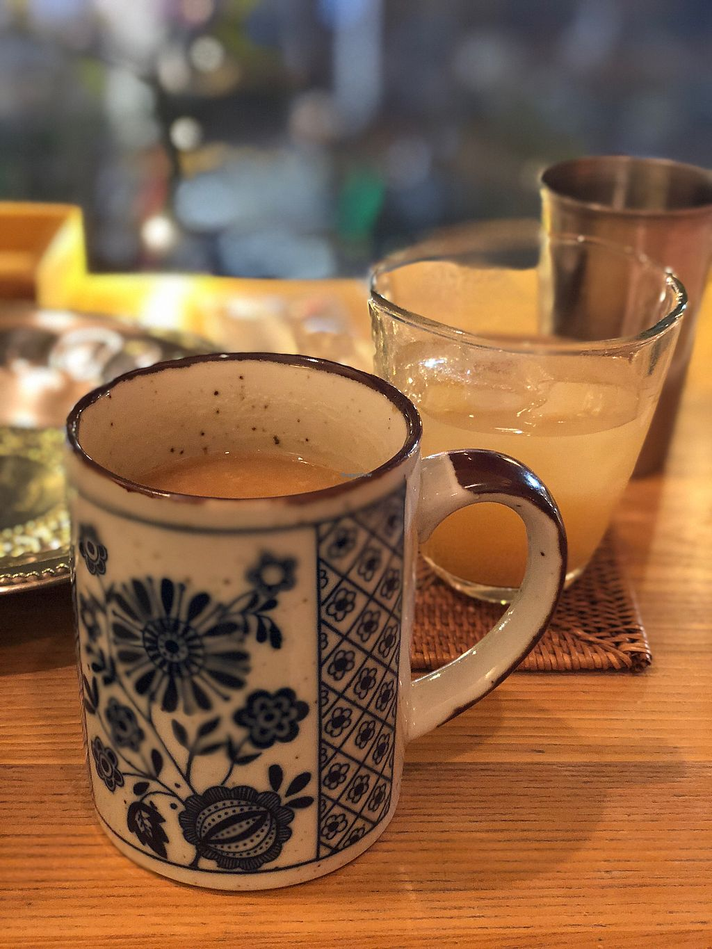 """Photo of Meunota  by <a href=""""/members/profile/CarlyHitchcock"""">CarlyHitchcock</a> <br/>Hot amazake and peach wine  <br/> December 22, 2017  - <a href='/contact/abuse/image/21068/338076'>Report</a>"""