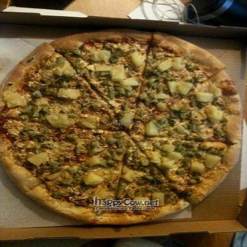 """Photo of Ed's Buffalo Wings and Pizza  by <a href=""""/members/profile/victorgalli"""">victorgalli</a> <br/>Broccoli, Pineapple, and Jalapeno Vegan Pizza with Daiya Vegan Cheese <br/> May 30, 2010  - <a href='/contact/abuse/image/21108/4638'>Report</a>"""