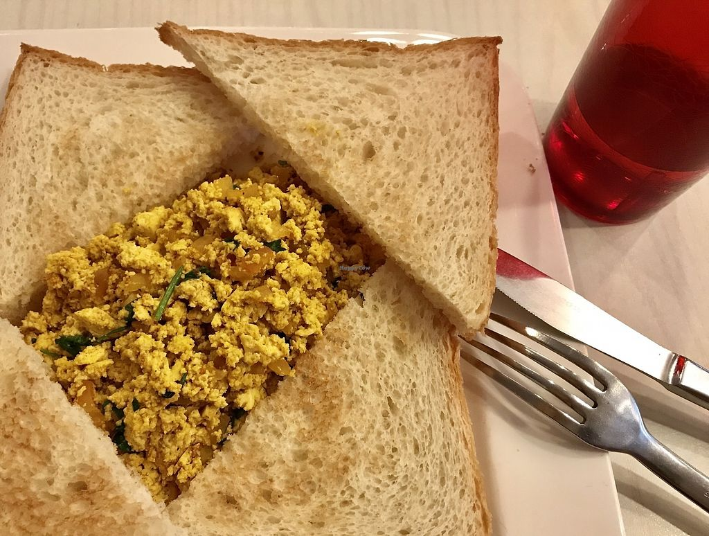 """Photo of Cafe Salivation  by <a href=""""/members/profile/lindyhan"""">lindyhan</a> <br/>Scrambled tofu on toast. $9.  <br/> October 27, 2017  - <a href='/contact/abuse/image/21127/319166'>Report</a>"""