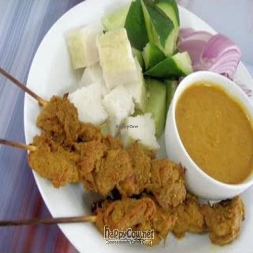 "Photo of Friendly Vegetarian Food Supplier  by <a href=""/members/profile/Peace%20..."">Peace ...</a> <br/>Instant Satay with Peanut Sauce ...Just baked the satay and add veggie or steamed lontong rice <br/> April 2, 2010  - <a href='/contact/abuse/image/21129/4190'>Report</a>"