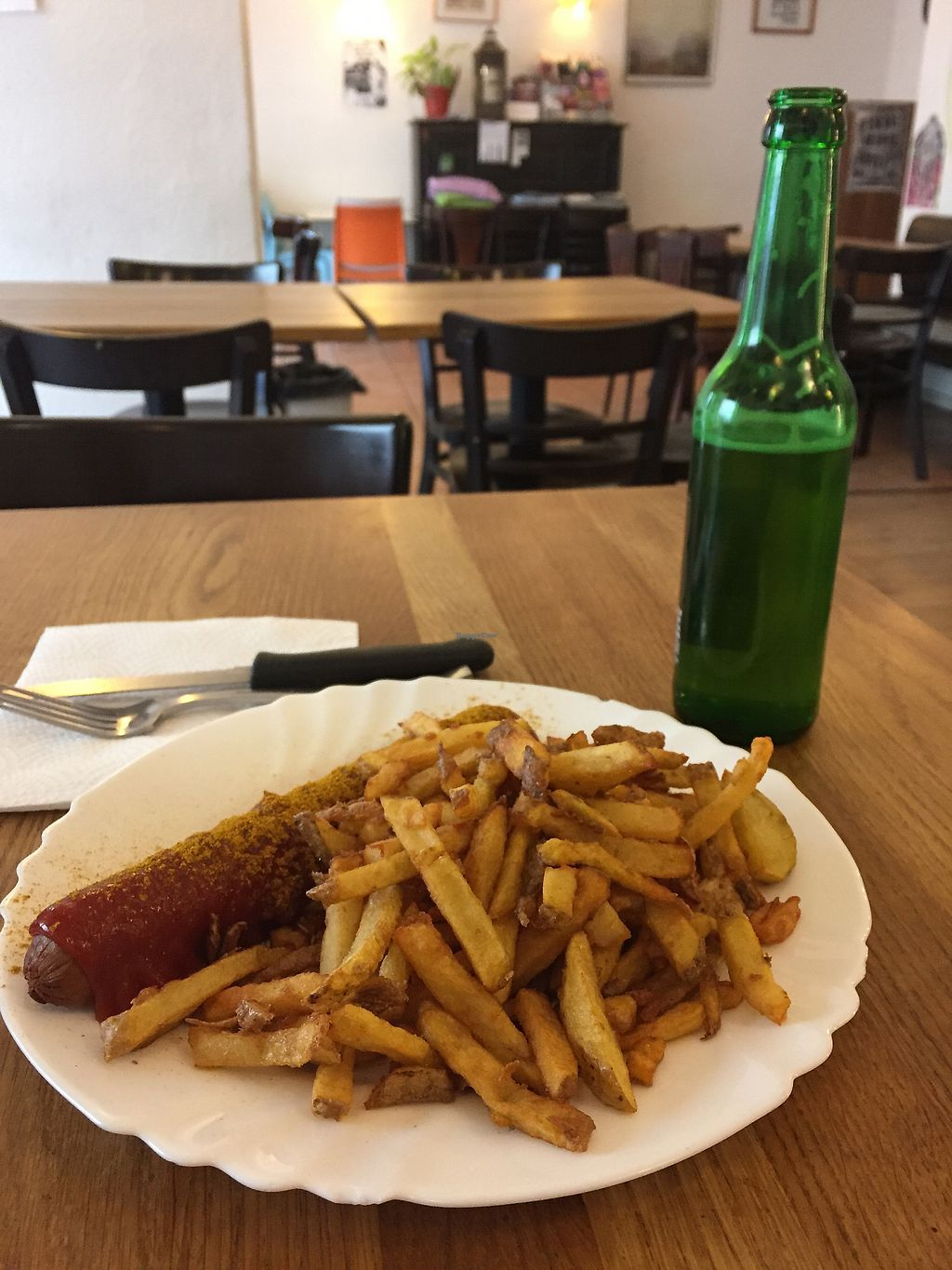 """Photo of CLOSED: vego Foodworld  by <a href=""""/members/profile/blackoutrishi"""">blackoutrishi</a> <br/>Currywurst and fries  <br/> November 23, 2017  - <a href='/contact/abuse/image/21142/328531'>Report</a>"""