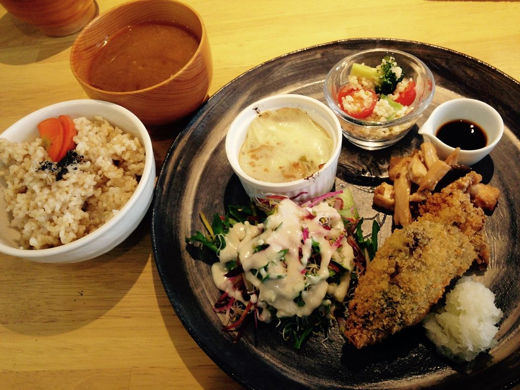 """Photo of Pupu Kitchen and Health Food Shop  by <a href=""""/members/profile/FruitMonstar"""">FruitMonstar</a> <br/>Lunch set for 1,150 yen <br/> January 29, 2016  - <a href='/contact/abuse/image/21162/134151'>Report</a>"""