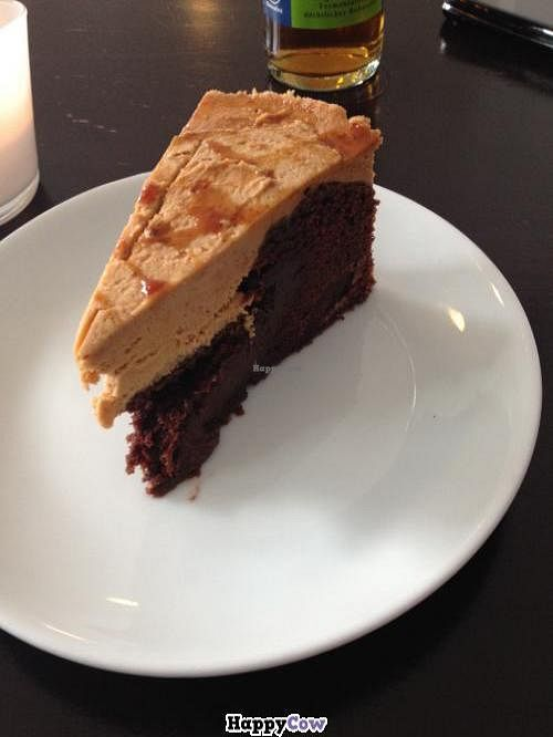 """Photo of CLOSED: Rootz  by <a href=""""/members/profile/vegan_ryan"""">vegan_ryan</a> <br/>Chocolate cake with peanut-butter mousse <br/> December 13, 2013  - <a href='/contact/abuse/image/21176/60265'>Report</a>"""
