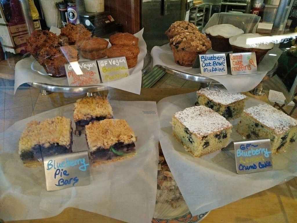 """Photo of Stellar Brew and Deli  by <a href=""""/members/profile/martinicontomate"""">martinicontomate</a> <br/>muffins with vegan options <br/> October 6, 2016  - <a href='/contact/abuse/image/21193/179986'>Report</a>"""