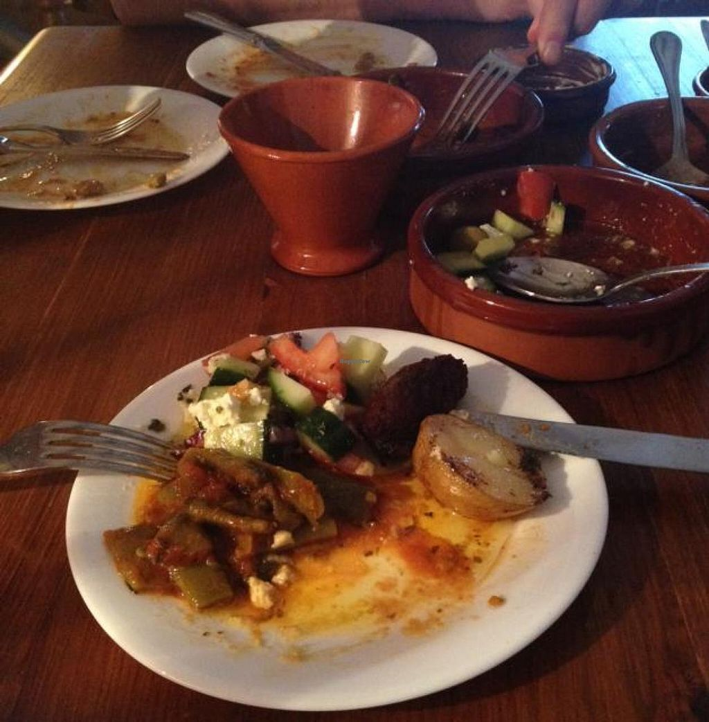 """Photo of Blooming Cactus  by <a href=""""/members/profile/economydreams"""">economydreams</a> <br/>Fasulakia, Greek Salad, Falafel and Greek Lemon Potatoes <br/> April 22, 2014  - <a href='/contact/abuse/image/21206/68305'>Report</a>"""