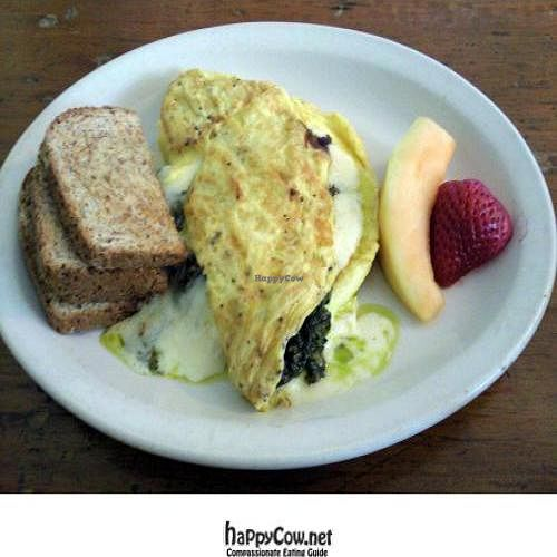"Photo of CLOSED: Gaia Cafe  by <a href=""/members/profile/happycowgirl"">happycowgirl</a> <br/>Pesto Cheese Omelette (your choice of a variety of different cheeses) <br/> October 9, 2011  - <a href='/contact/abuse/image/2121/11155'>Report</a>"