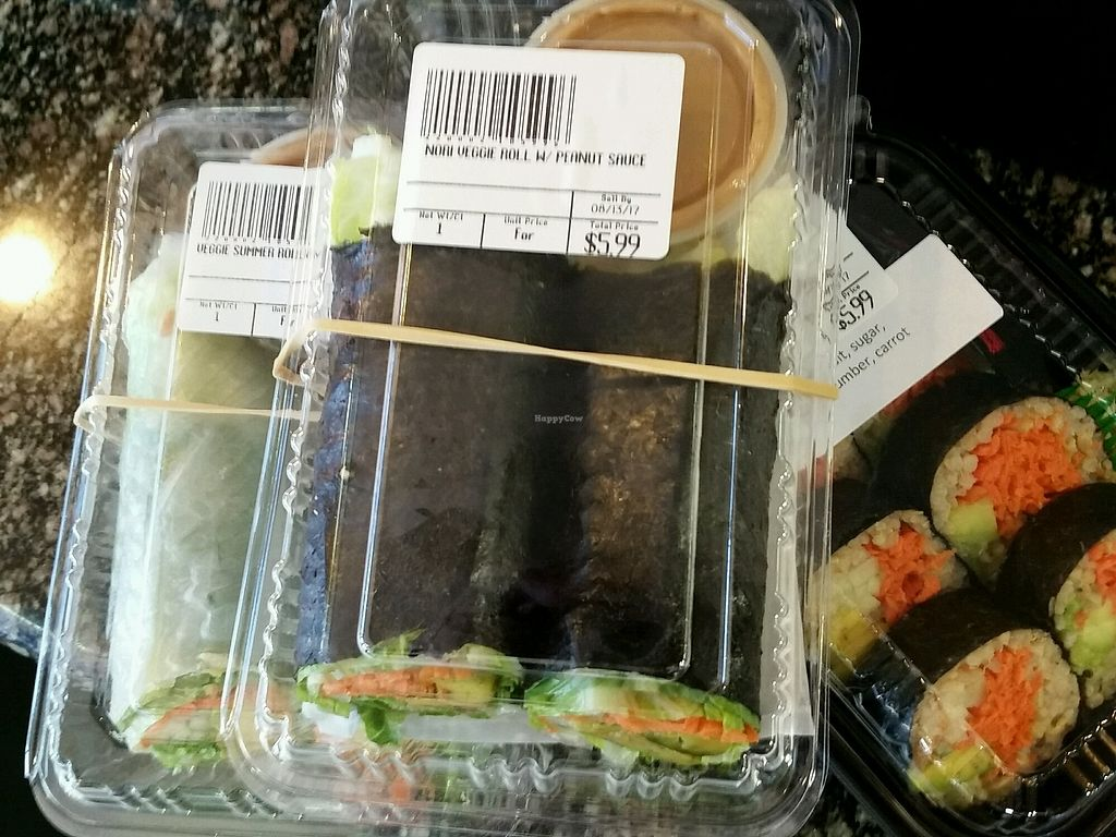 """Photo of Alive & Well Deli and Juice Bar  by <a href=""""/members/profile/eric"""">eric</a> <br/>packaged to go vegan options <br/> August 10, 2017  - <a href='/contact/abuse/image/21249/291276'>Report</a>"""