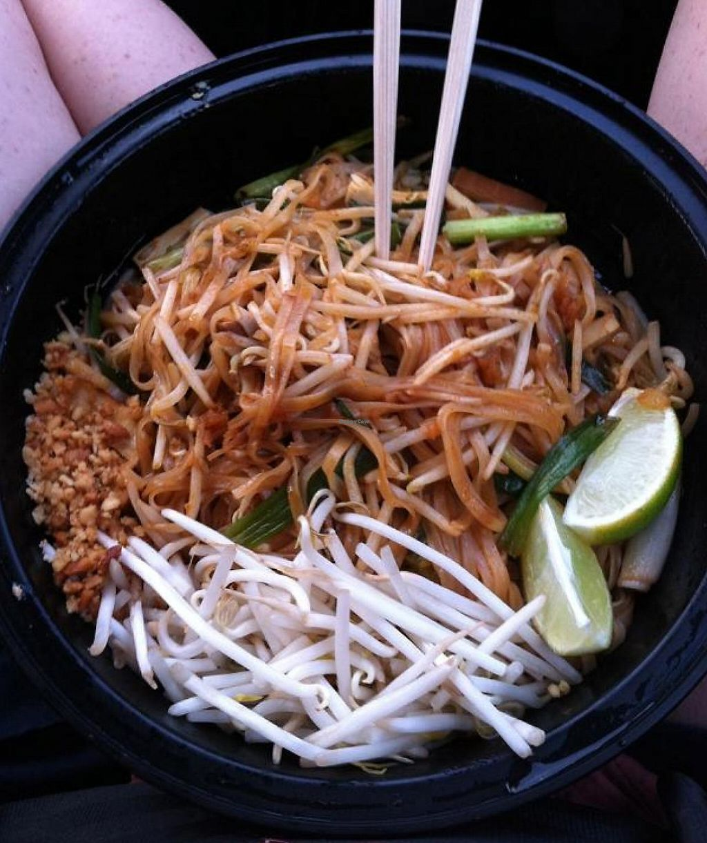 """Photo of Wynn Hotel - Wazuzu  by <a href=""""/members/profile/Meggie%20and%20Ben"""">Meggie and Ben</a> <br/>Vegan pad thai to go <br/> December 1, 2014  - <a href='/contact/abuse/image/21258/207730'>Report</a>"""