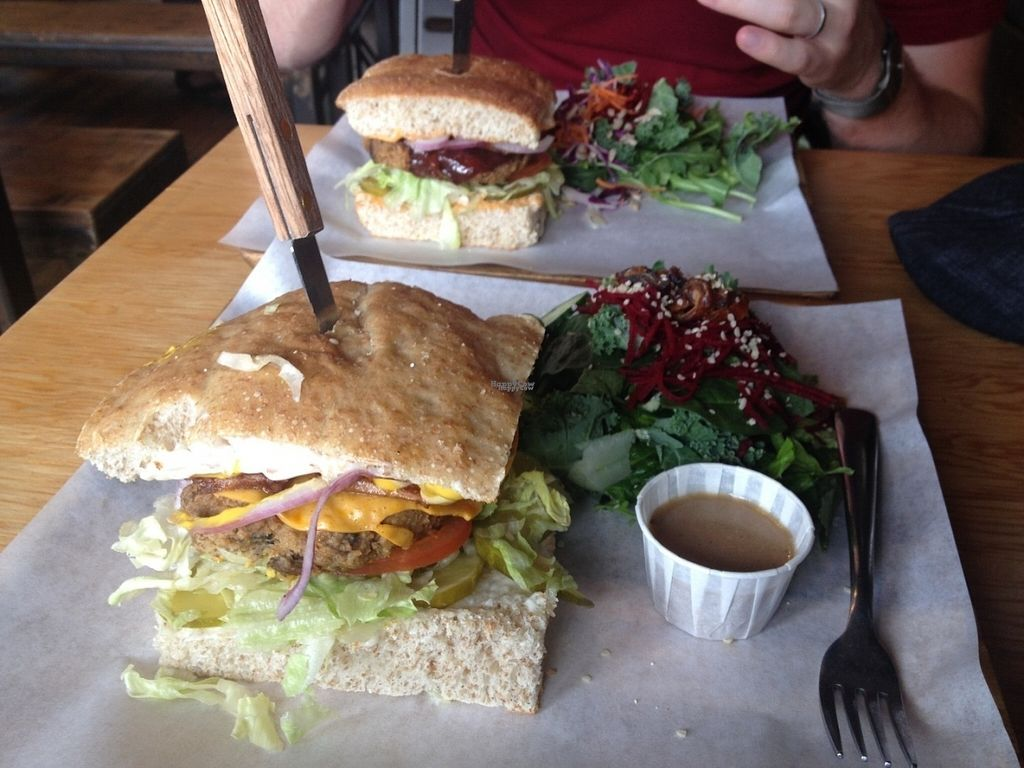 "Photo of Boon Burger Cafe  by <a href=""/members/profile/o0Carolyn0o"">o0Carolyn0o</a> <br/>Bacun-Cheeseburger with a kale salad...soooo good! <br/> September 26, 2016  - <a href='/contact/abuse/image/21288/178080'>Report</a>"