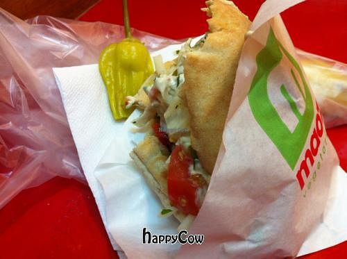 "Photo of Maoz  Vegetarian - Saint Andre des Arts  by <a href=""/members/profile/imoimoimo"">imoimoimo</a> <br/>falafels in pitta with the works!! <br/> April 30, 2013  - <a href='/contact/abuse/image/21293/47558'>Report</a>"