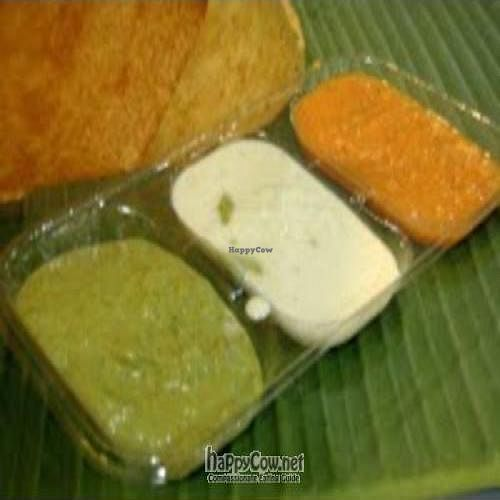 """Photo of Komala's Deli - Yishun North Point  by <a href=""""/members/profile/Peace%20..."""">Peace ...</a> <br/>Dosai serves with sides dishes - Chutney  <br/> May 5, 2010  - <a href='/contact/abuse/image/21335/4422'>Report</a>"""