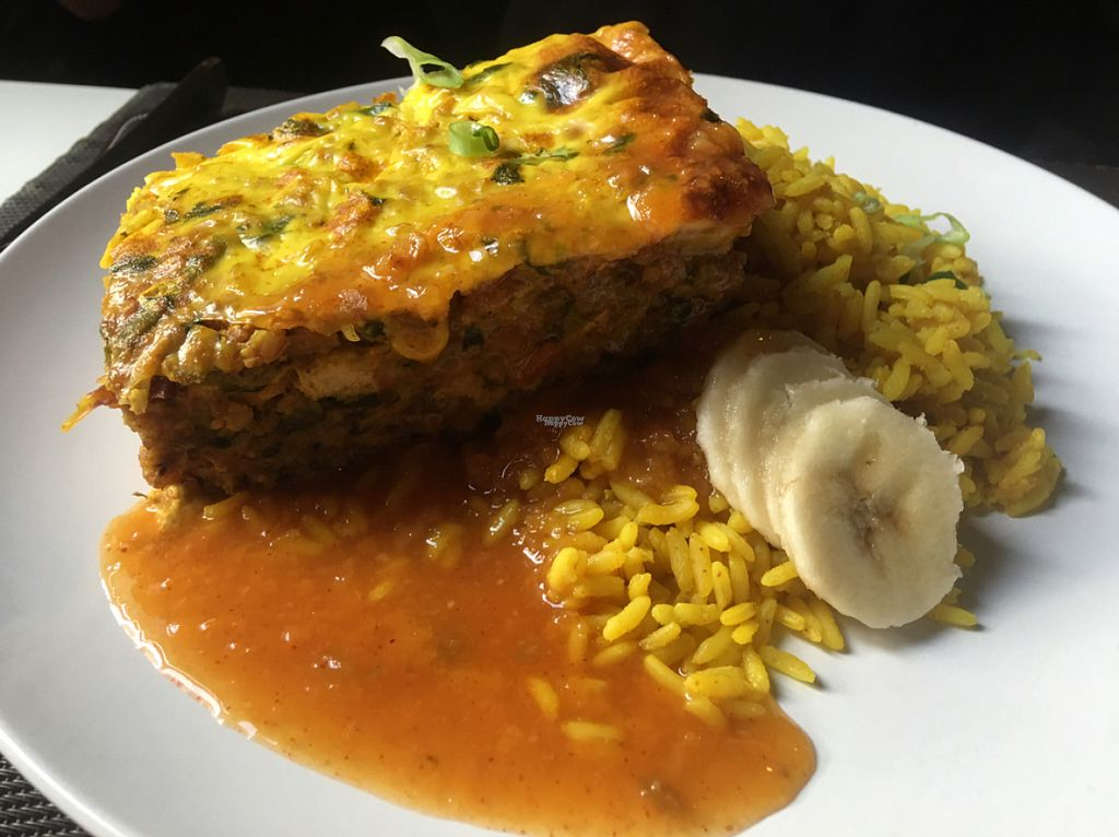 """Photo of Karoo Restaurant  by <a href=""""/members/profile/Stacie99"""">Stacie99</a> <br/>Bobotie w tofu  <br/> August 13, 2016  - <a href='/contact/abuse/image/21347/168278'>Report</a>"""