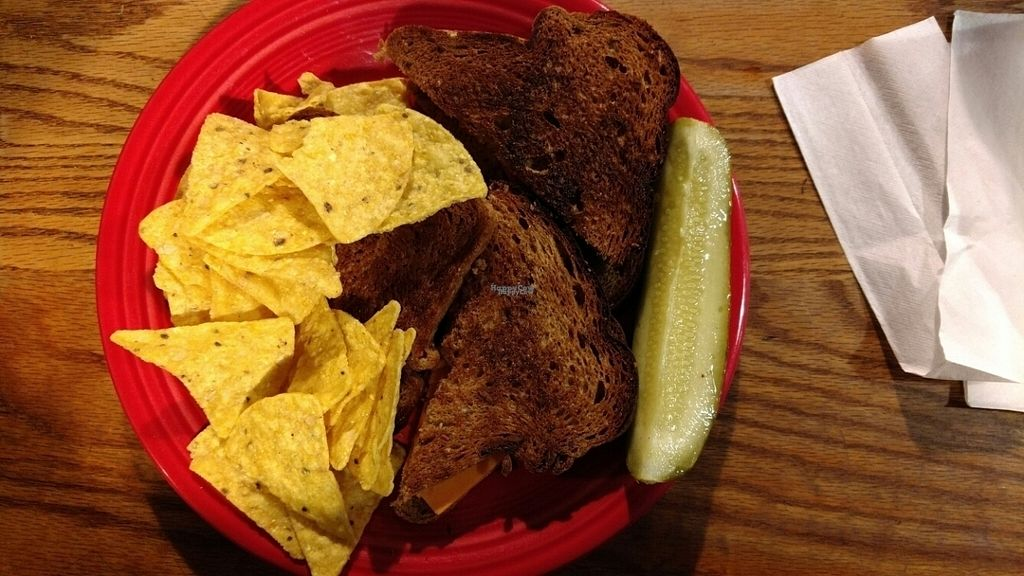 """Photo of Hard Times Cafe  by <a href=""""/members/profile/GreenEyedMoFo"""">GreenEyedMoFo</a> <br/>Grilled Cheese (Vegan) <br/> October 7, 2016  - <a href='/contact/abuse/image/2134/180334'>Report</a>"""