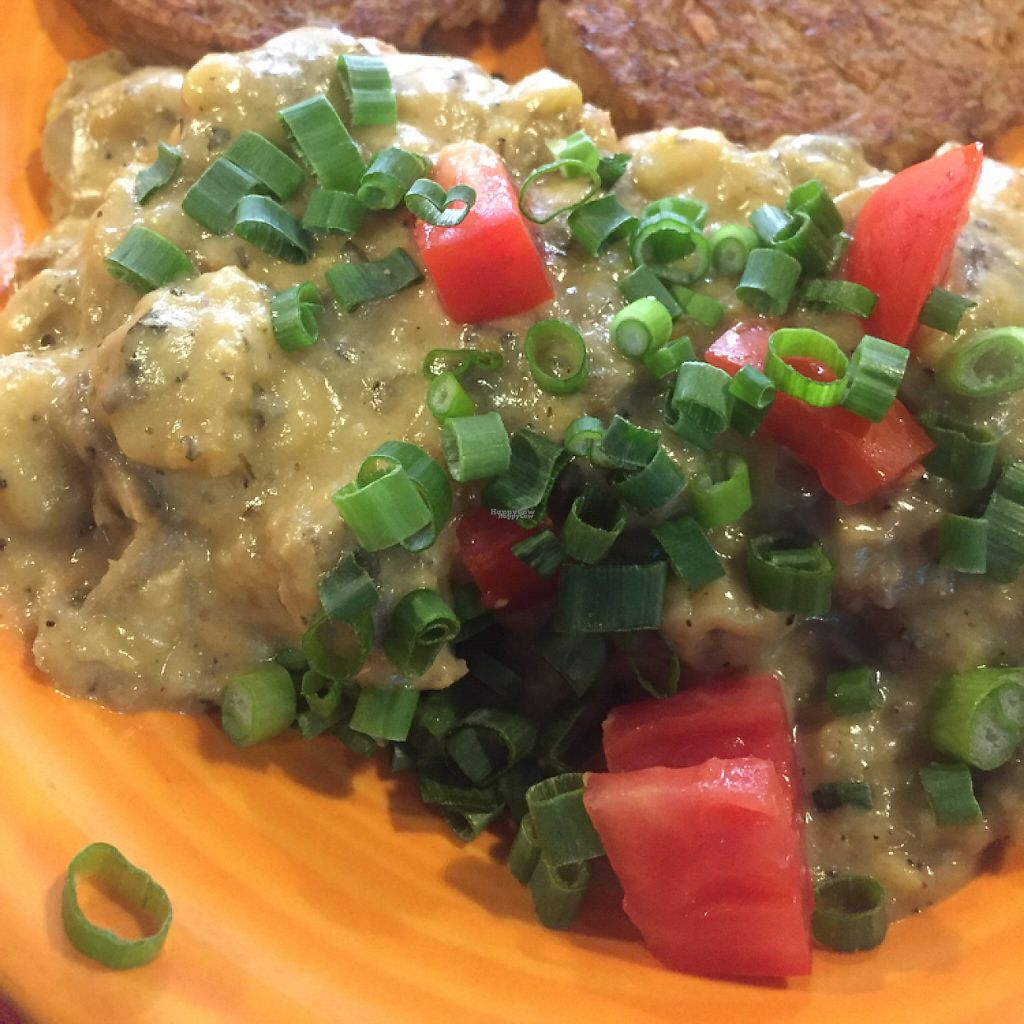 """Photo of Hard Times Cafe  by <a href=""""/members/profile/happycowgirl"""">happycowgirl</a> <br/>vegan sausage, biscuits and gravy <br/> January 28, 2017  - <a href='/contact/abuse/image/2134/218311'>Report</a>"""