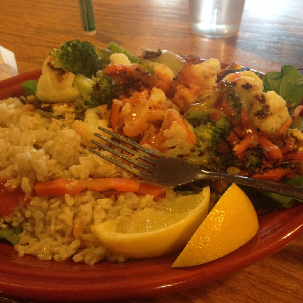 """Photo of Hard Times Cafe  by <a href=""""/members/profile/fitmetalvegan2013"""">fitmetalvegan2013</a> <br/>tofu garden scramble <br/> March 4, 2014  - <a href='/contact/abuse/image/2134/65315'>Report</a>"""