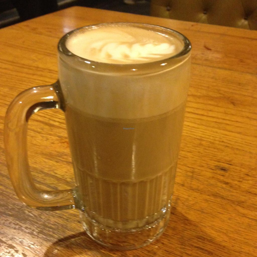 """Photo of Hard Times Cafe  by <a href=""""/members/profile/fitmetalvegan2013"""">fitmetalvegan2013</a> <br/>soy latte <br/> March 4, 2014  - <a href='/contact/abuse/image/2134/65318'>Report</a>"""