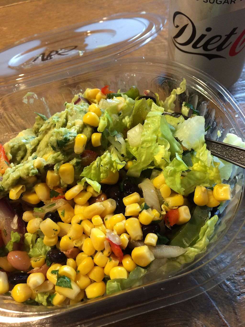 "Photo of Boojum - Botanic Ave  by <a href=""/members/profile/CiaraSlevin"">CiaraSlevin</a> <br/>Salad Bowl lunch - lettuce, onions, peppers, black beans, pinto beans, sweet corn salsa, guacamole.  <br/> January 27, 2018  - <a href='/contact/abuse/image/21352/351500'>Report</a>"