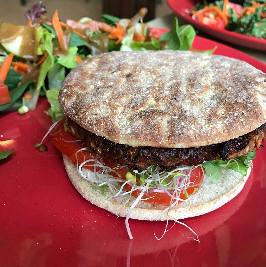 """Photo of Lotus Cafe  by <a href=""""/members/profile/VeganskisLove"""">VeganskisLove</a> <br/>veggie burger <br/> October 25, 2016  - <a href='/contact/abuse/image/21355/184422'>Report</a>"""