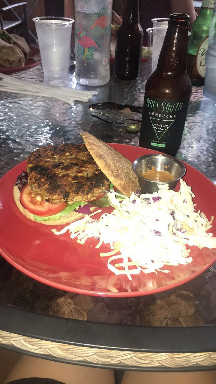 """Photo of Lotus Cafe  by <a href=""""/members/profile/Kirstinaureal"""">Kirstinaureal</a> <br/>veggie burger! so good.  <br/> July 28, 2017  - <a href='/contact/abuse/image/21355/285943'>Report</a>"""