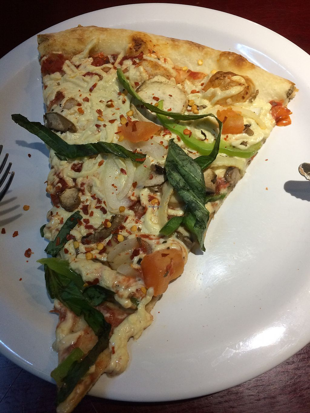 """Photo of Turnpike Pizza  by <a href=""""/members/profile/Arti"""">Arti</a> <br/>veggie combo with vegan cheese <br/> December 16, 2017  - <a href='/contact/abuse/image/21367/336149'>Report</a>"""