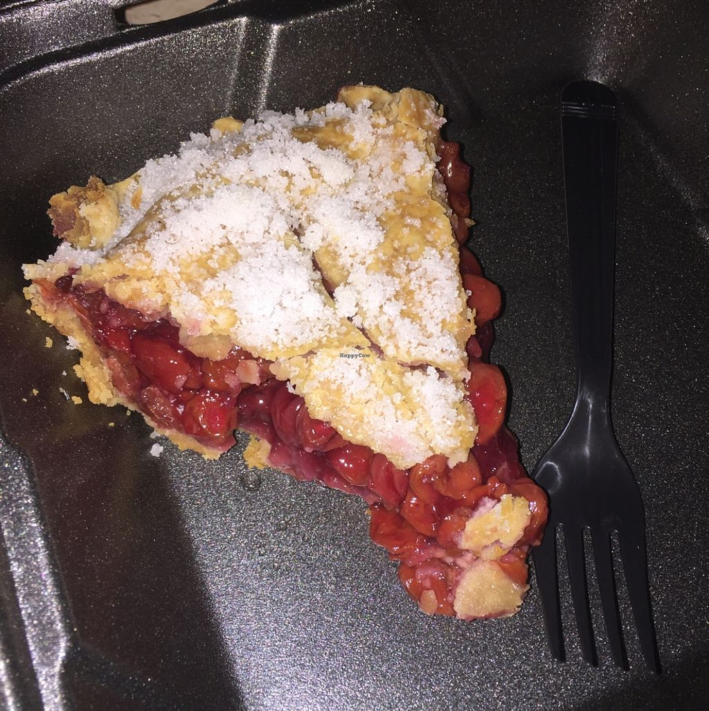"""Photo of Southern Sweets Bakery  by <a href=""""/members/profile/natalie_uzee"""">natalie_uzee</a> <br/>vegan cherry pie <br/> December 22, 2015  - <a href='/contact/abuse/image/21388/129514'>Report</a>"""