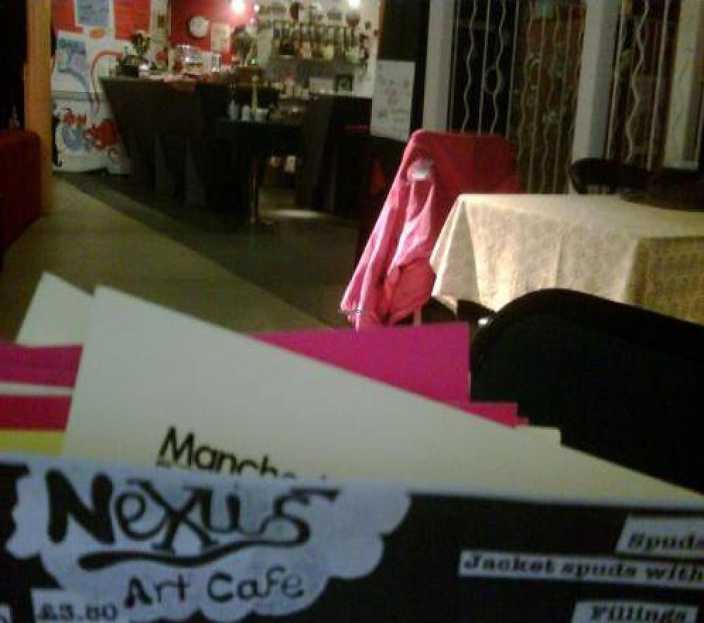 """Photo of Nexus Art Cafe  by <a href=""""/members/profile/alimac"""">alimac</a> <br/>Menu and general view of Nexus Art cafe <br/> October 23, 2011  - <a href='/contact/abuse/image/21391/192588'>Report</a>"""
