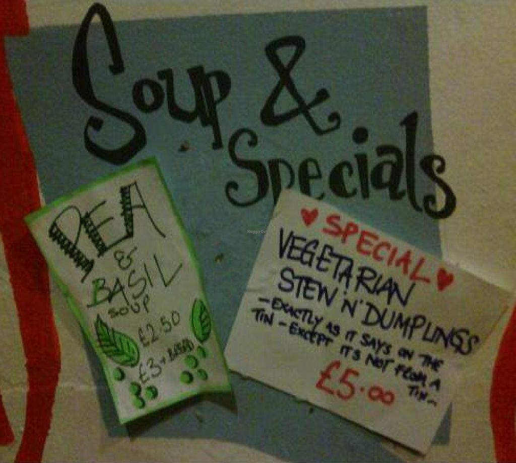 """Photo of Nexus Art Cafe  by <a href=""""/members/profile/alimac"""">alimac</a> <br/>Soup and specials board <br/> October 23, 2011  - <a href='/contact/abuse/image/21391/192590'>Report</a>"""