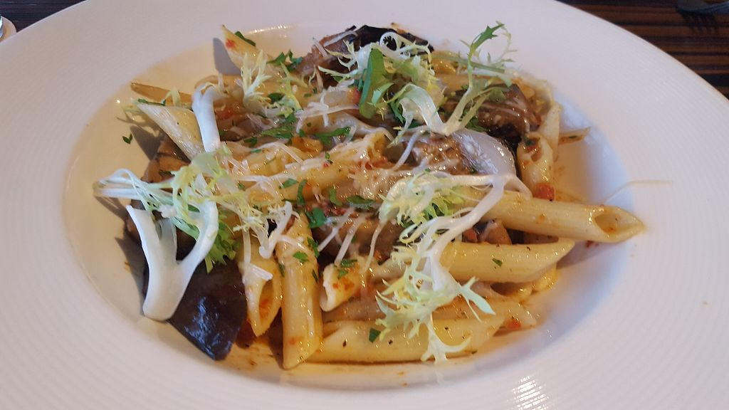 """Photo of Roy's  by <a href=""""/members/profile/kimbarley"""">kimbarley</a> <br/>Eggplant penne <br/> April 8, 2018  - <a href='/contact/abuse/image/21396/382256'>Report</a>"""