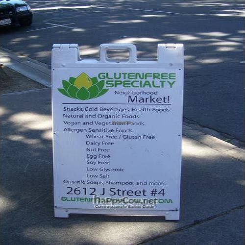 Photo of CLOSED: Gluten Free Specialty Market  by jive <br/>Here is there message board they keep out front <br/> May 30, 2010  - <a href='/contact/abuse/image/21412/4636'>Report</a>