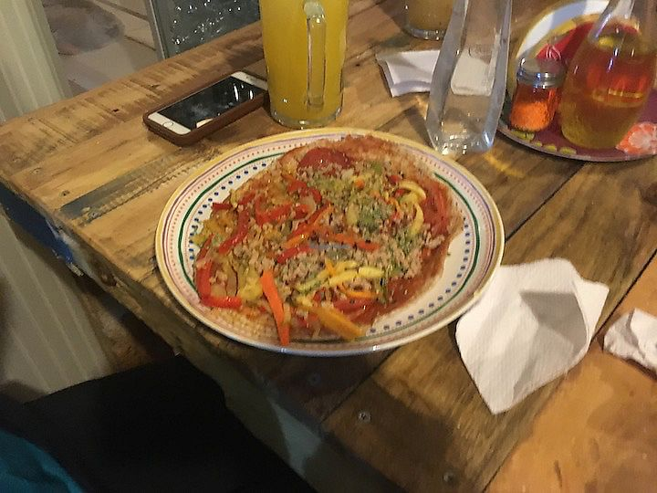 """Photo of Estrella Negra  by <a href=""""/members/profile/vegan_ryan"""">vegan_ryan</a> <br/>Pizza without cheese <br/> February 4, 2018  - <a href='/contact/abuse/image/21442/354804'>Report</a>"""