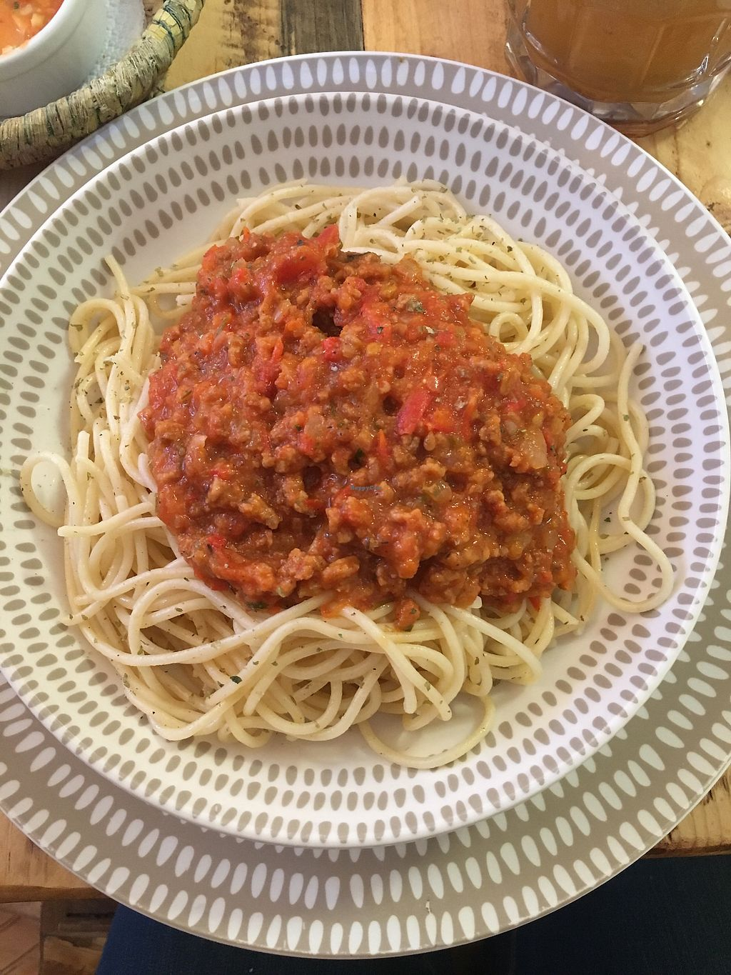 """Photo of Estrella Negra  by <a href=""""/members/profile/MonicaB"""">MonicaB</a> <br/>Spaghetti bolognese made from soya <br/> March 11, 2018  - <a href='/contact/abuse/image/21442/369363'>Report</a>"""