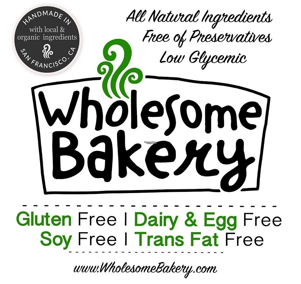 "Photo of Wholesome Bakery  by <a href=""/members/profile/wholesomebakery"">wholesomebakery</a> <br/>Wholesome Bakery is a plant based bakery proud to bring you gluten free, dairy + egg free, soy free and low glycemic treats. Yum! <br/> March 21, 2017  - <a href='/contact/abuse/image/21462/239201'>Report</a>"