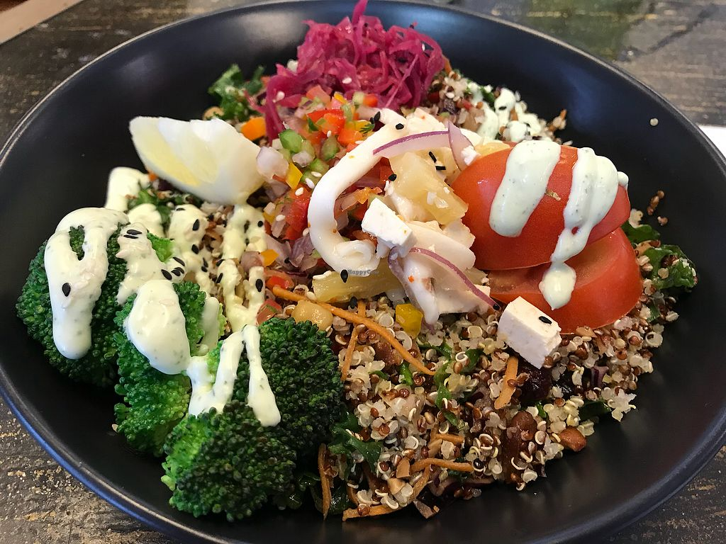 """Photo of Wise Cicada Wholefood Cafe  by <a href=""""/members/profile/Kiwivegan"""">Kiwivegan</a> <br/>Hawaian pokebowl <br/> December 22, 2017  - <a href='/contact/abuse/image/21463/337983'>Report</a>"""