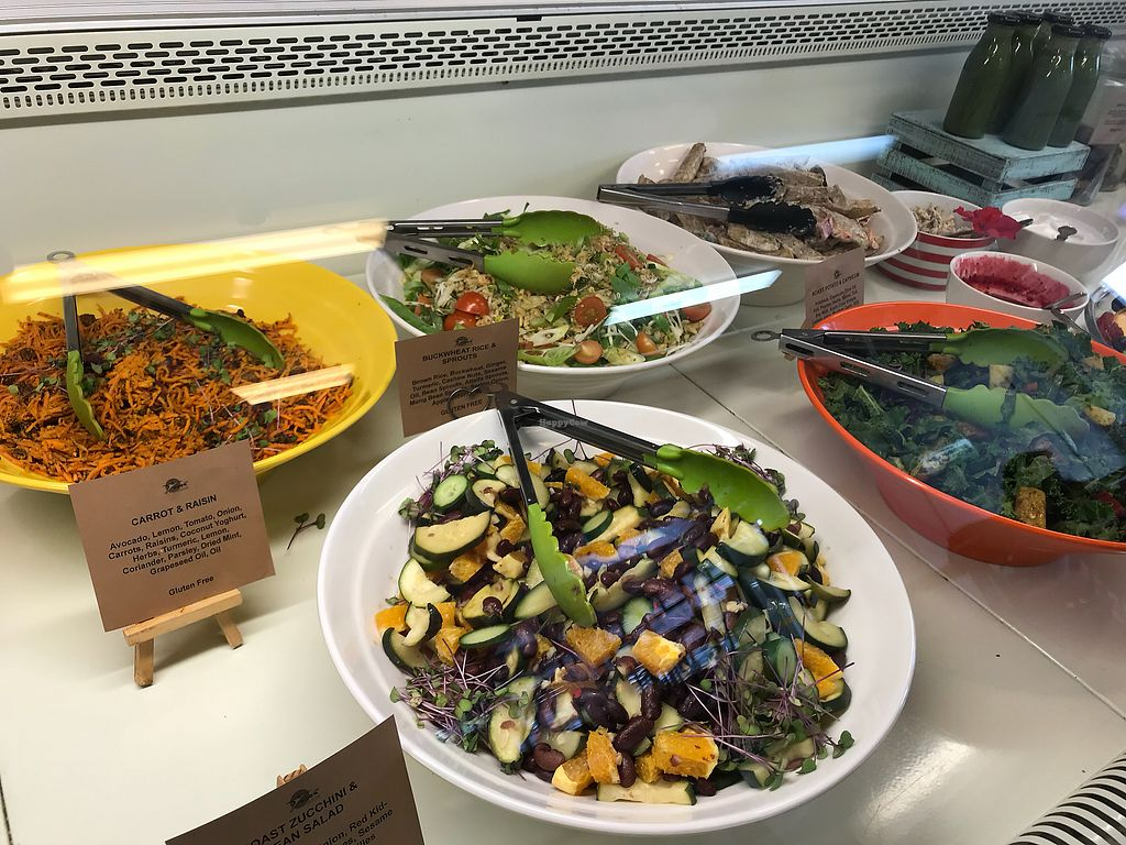 """Photo of Wise Cicada Wholefood Cafe  by <a href=""""/members/profile/Kiwivegan"""">Kiwivegan</a> <br/>Salads <br/> December 22, 2017  - <a href='/contact/abuse/image/21463/337985'>Report</a>"""