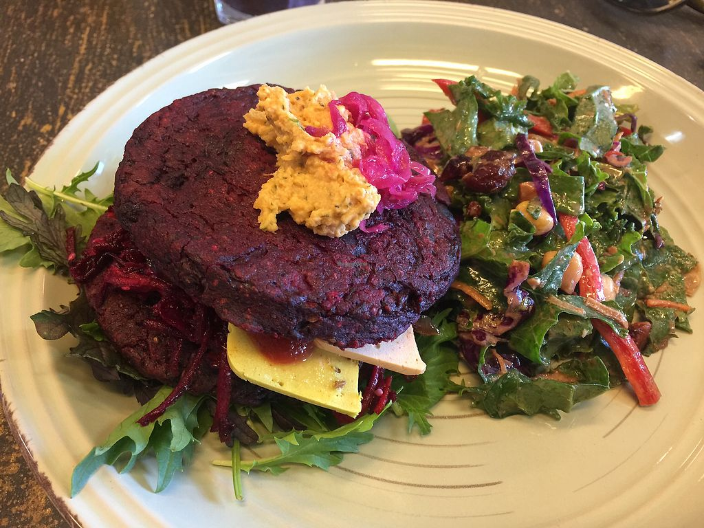 """Photo of Wise Cicada Wholefood Cafe  by <a href=""""/members/profile/Tiggy"""">Tiggy</a> <br/>Beat Cheeze Burger $18 - Just OK  <br/> December 29, 2017  - <a href='/contact/abuse/image/21463/340344'>Report</a>"""