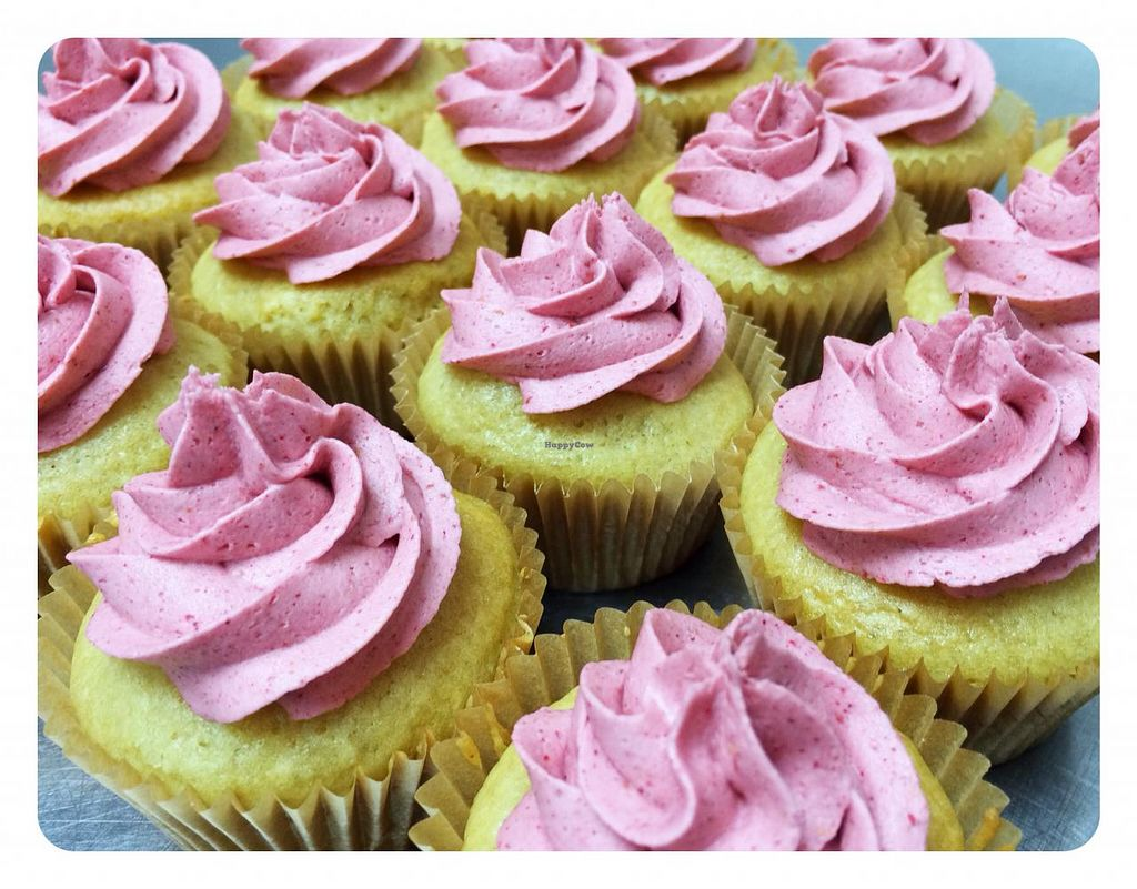 """Photo of Good Earth Food Co-op  by <a href=""""/members/profile/Aliciaal"""">Aliciaal</a> <br/>Vegan Vanilla Cupcakes with Raspberry 'buttercream' Frosting <br/> March 4, 2014  - <a href='/contact/abuse/image/2148/65278'>Report</a>"""