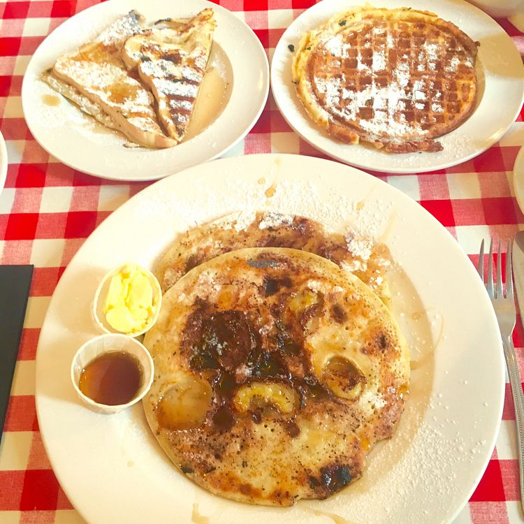 "Photo of Annie's Burger Shack  by <a href=""/members/profile/Libra77"">Libra77</a> <br/>Chocolate & banana pancakes, maple syrup waffle and french toast <br/> October 1, 2016  - <a href='/contact/abuse/image/21507/179067'>Report</a>"