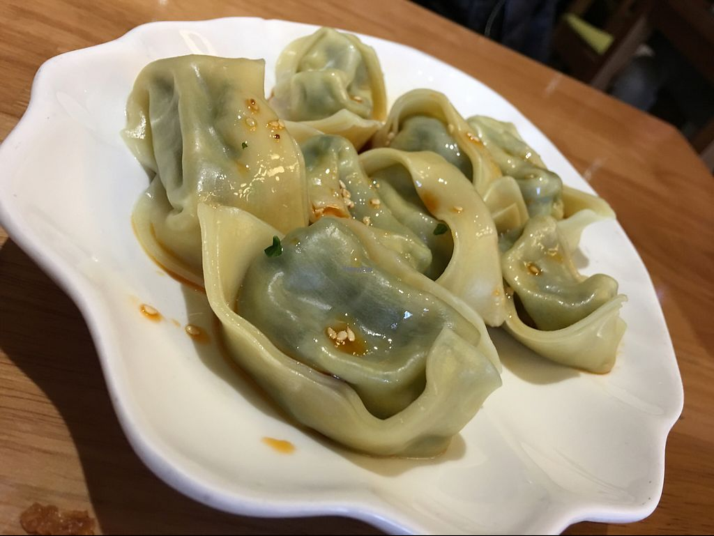 """Photo of Ming Sheng Healthy Vegan Restaurant  by <a href=""""/members/profile/IBANEZ"""">IBANEZ</a> <br/>spicy dumplings  <br/> March 8, 2017  - <a href='/contact/abuse/image/21509/234140'>Report</a>"""
