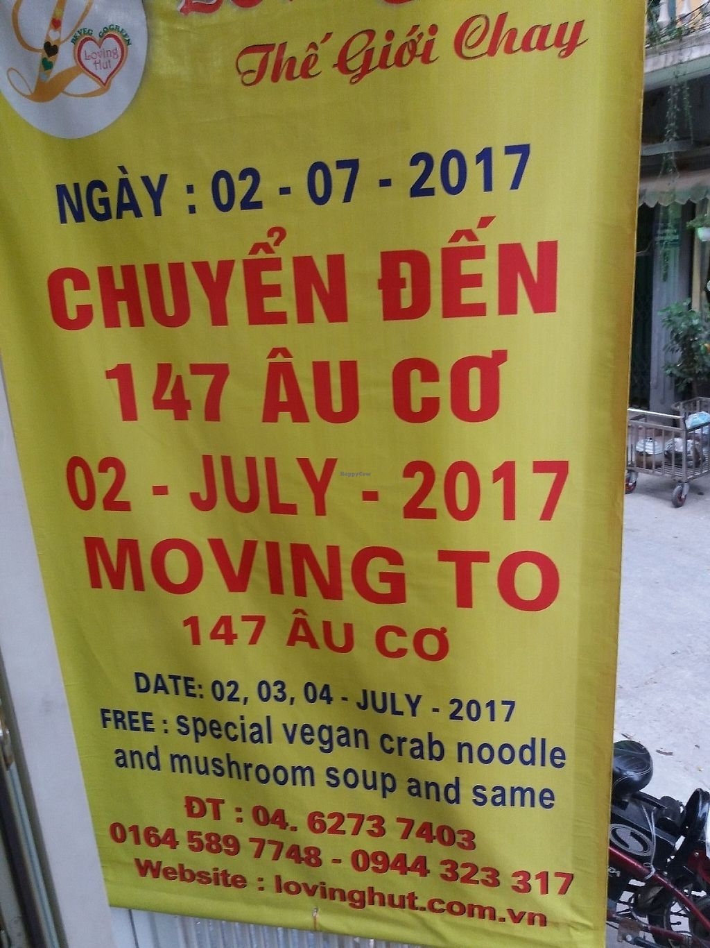 "Photo of Loving Hut - Tay Ho  by <a href=""/members/profile/veganvirtues"">veganvirtues</a> <br/>Please note this place will relocate 2nd July <br/> June 1, 2017  - <a href='/contact/abuse/image/21552/264759'>Report</a>"