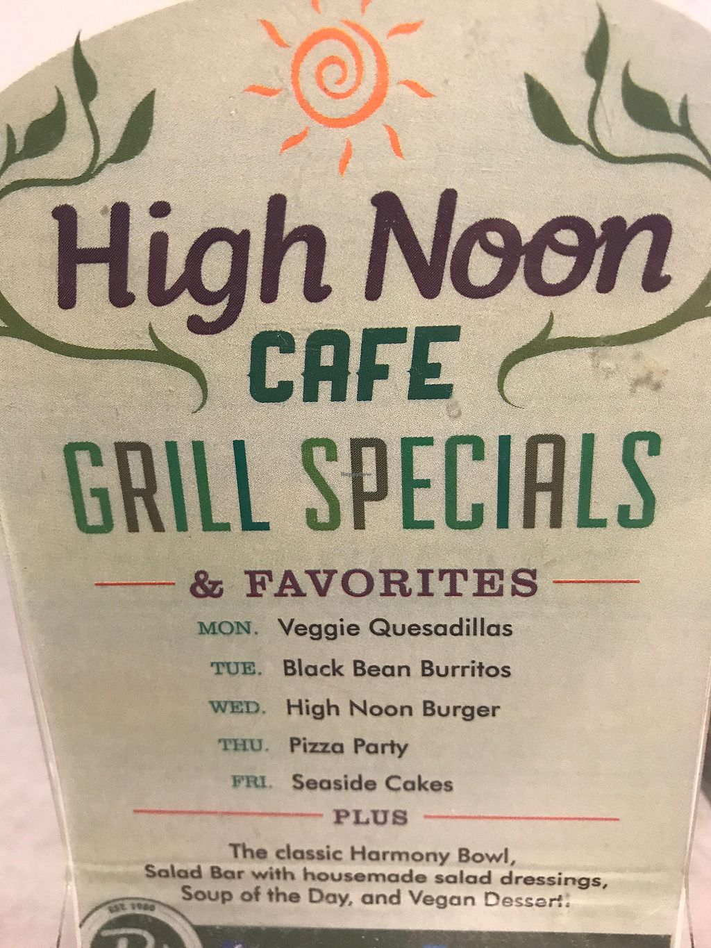 """Photo of High Noon Cafe  by <a href=""""/members/profile/cheez"""">cheez</a> <br/>Menu - July 2017 <br/> July 5, 2017  - <a href='/contact/abuse/image/2155/276898'>Report</a>"""