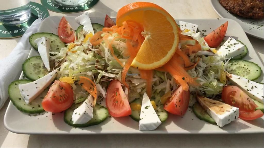 """Photo of Surf Corner Veggie Tapas Cafe  by <a href=""""/members/profile/ClareGillies"""">ClareGillies</a> <br/>veggie salad with cheese native to Lanzarote  <br/> December 17, 2016  - <a href='/contact/abuse/image/21575/202204'>Report</a>"""
