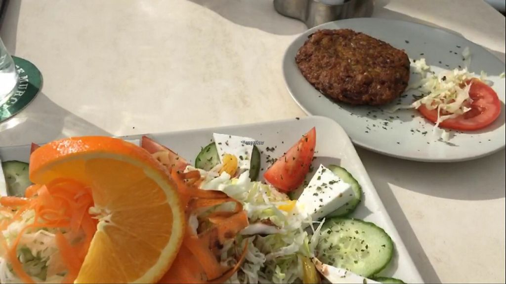 """Photo of Surf Corner Veggie Tapas Cafe  by <a href=""""/members/profile/ClareGillies"""">ClareGillies</a> <br/>lentil and rice veggie burger patty, made from scratch! <br/> December 17, 2016  - <a href='/contact/abuse/image/21575/202205'>Report</a>"""